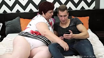 BBW granny vs young guy - Lusty Grandmas