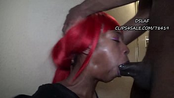 THIS IS DSLAF- Ebony Thot Gets Hardcore Face Fuck From BBC