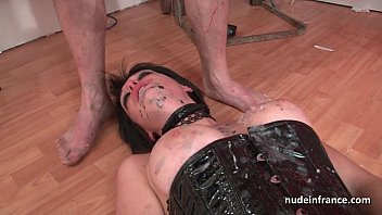 French manicure bondage - Big boobed french babe hard corrected in bdsm action