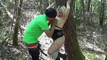 Busty tattoed mature in anal adventure outdoor