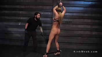 Dungeon training for bubble butt blonde sub
