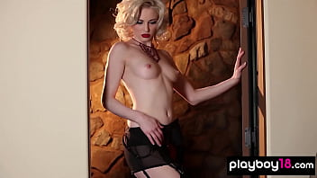 Pale blond girl nude Classy carissa white gets nude in sexy black stockings