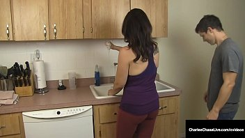 Busty Cougar Charlee Chase Loves Sucking Cock & Washing HairBig Titty Milf Charlee Chase, stuffs her pretty piehold with a hard cock in the kitchen while she washes her beautiful hair! This is an odd one! Full Video & Charlee Live @ CharleeChaseLi