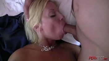 hd free porn ~ Busty blonde tattooed milf gets her asshole pounded by a group of guys thumbnail