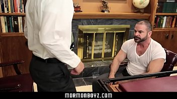 Bear gay young Mormonboyz-young stud inspected and fucked by older leader