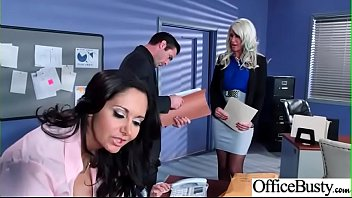 Hot Nasty Cute Girl (Ava Addams & Riley Jenner) With Big Juggs Like Sex In Office vid-06