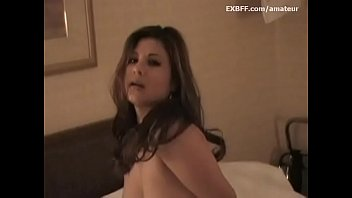 Busty Mexican amateur girlfriend orgasms on vibrator