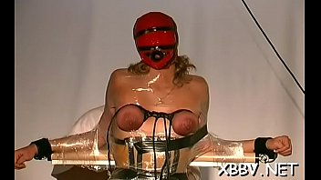 Perfect tits strip show video Stripped woman shows off in complete breast bondage x video