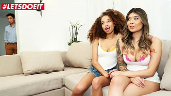 SCAM ANGELS - Cecilia Lion, Brenna Sparks & Brad Knight - Sexy Girls Are Going Wild With Married Neighbor