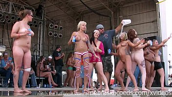 amateur strip contest at iowa biker rally thumbnail