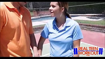Asian female tennis player Bratty teen fucked by tennis coach