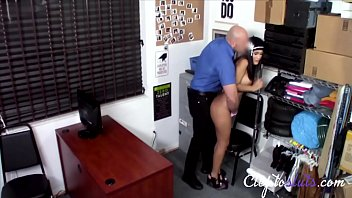 Busty Latina Gets Caught By Cop For Steal- Alina Belle