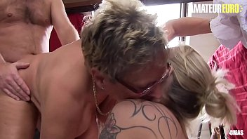 AMATEUR EURO - Two German Mature Ladies Shares Hard Cock This Afternoon (Ziska & Erna)