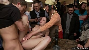 Heartland drag strip - Babe in stock caned and fucked in public