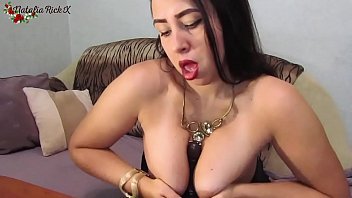 Brunette Passionate Sucking Sex Toy and Tit Fuck after a Walk
