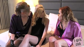 Trans chicks spit roasting ts blonde