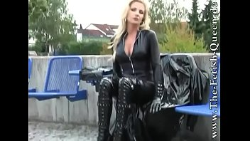 Sexy German girl dominatrix in leather