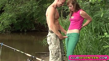 Cute teenie fucked by a fisherman