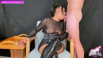 Mixed Race Hottie Smoking Deepthroat Blowjob Throatpie Cum Down Her Throat OF:SHANTELDEE12 5 min