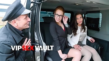 FUCKED IN TRAFFIC - Therese Bizzare and George Uhl - Czech Girl Fucks With Daddy While Her BFF Walk Away