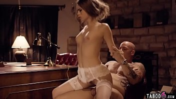 Young secretary in lingerie always pleases her boss