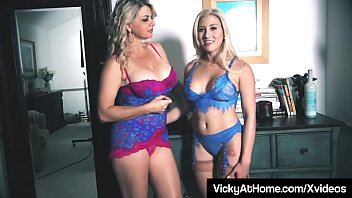 Free adult video thumbnails - Busty blonde milf vicky vette uses hitachi with cristi ann