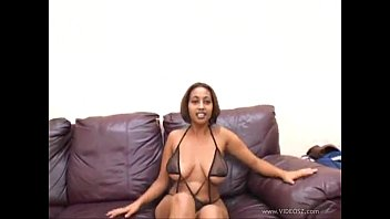 Busty Ebony Model, Ross De la Hoya, Sucks and Rides the D...
