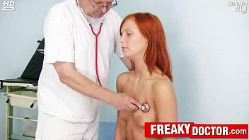 European obgyn doctor explores redhead teen Electra Angels