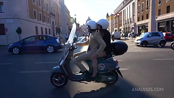 Giorgia Roma tourist in Rome gets her tight ass gets fucked by Luca Ferrero and public blowjob MS126
