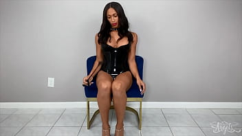 busty ts miss (Jasmine Lotus) strips and masturbating alone - TransAngels