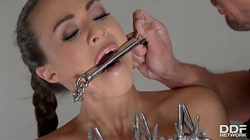 Domination and submission switching - Submissive tiffany doll chained, dominated, analyzed