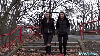 Public Agent Real Twins stopped on the street for indecent proposals thumbnail