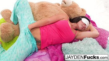 Jayden Jaymes, Jayden Cole, Dylan Ryder and puba bear have fun