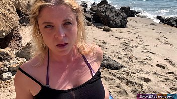 Lucky surf instructor cums inside MILF at the beach getting revenge on husband for cheating