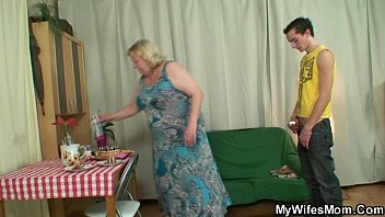 Chubby mother inlaw lures him into sex