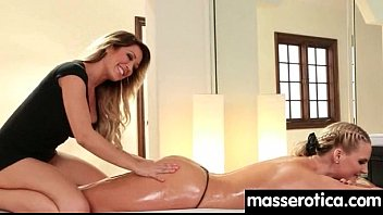 Massage therapist giving her patient some unknowing love 7