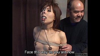 Asian Porn Nose Clamp - Subtitled CMNF Japanese BDSM nose hooks and more