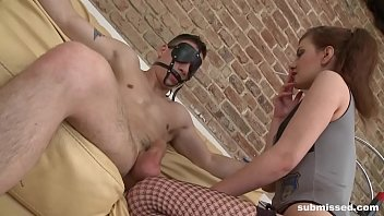 Mistress dominates and pegs young guy for the first time thumbnail
