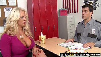 Brazzers - Mommy Got Boobs - Big Boobs Behind Bars scene starring Alura Jenson and Ramon
