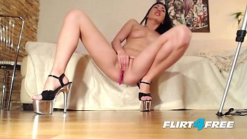 Sexy cork wedge shoes - Flirt4free cam babe moni fox fingers her pussy hard wearing high heels