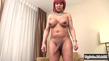 """Curvy ebony ts plays with her chocolate dick <span class=""""duration"""">6 min</span>"""
