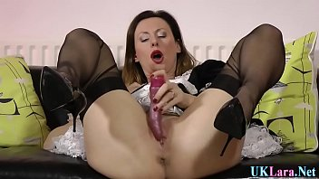 Masturbating british maid