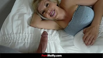 Busty Milf Wakes To Stepson's Hard Cock In Her Face