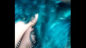 Blue haired neighbor blows me while husband at work