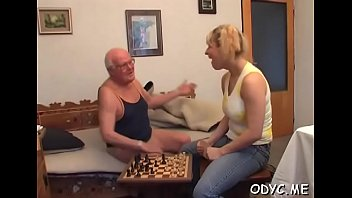Stunning old and youthful act with hot babe seducing dad