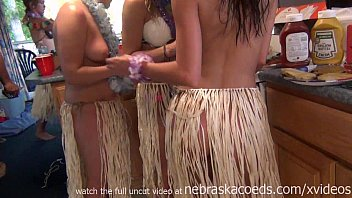 Adult costume hula Wild naked hula party in party cove lake ozarks missouri