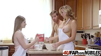 Cook whole turkey breast on grill He was shocked to see these two naked ladies cook cookies