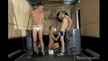 Twink Threesome in Chains