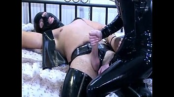 Hot slave girl riding a huge cock