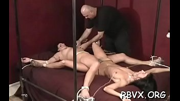 Frisky honey can'_t move as large guy stimulates her tight pussy